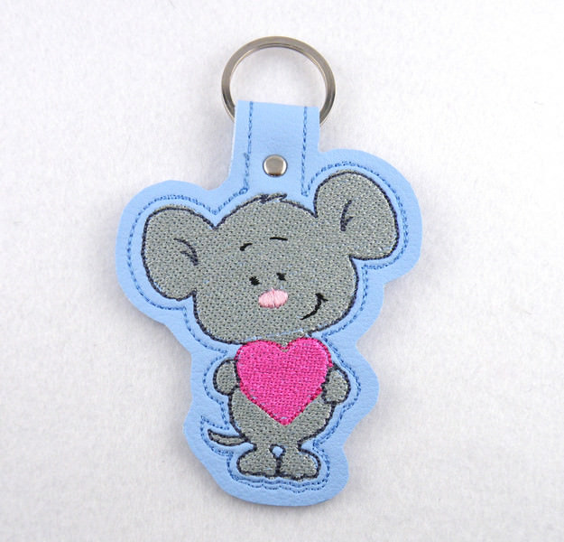 - Schlüsselanhänger Mäuschen Leder - Schlüsselanhänger Mäuschen Leder