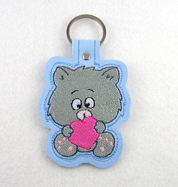 - Schlüsselanhänger Kätzchen Leder - Schlüsselanhänger Kätzchen Leder