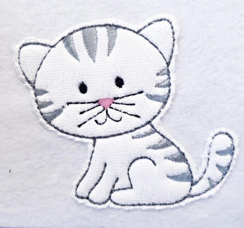 - Applikation Aufnäher Kätzchen - Applikation Aufnäher Kätzchen