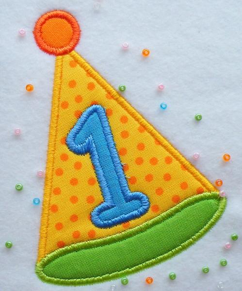 - Applikation Partyhut klein mit Ihrer Wunschzahl - Applikation Partyhut klein mit Ihrer Wunschzahl