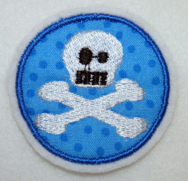 - Pirat Aufnäher Totenkopf Skull - Pirat Aufnäher Totenkopf Skull