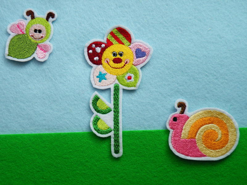 - Stickerei Sommerwiese - Stickerei Sommerwiese