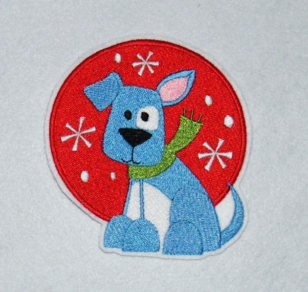 - gestickter Aufnäher Hund klein - gestickter Aufnäher Hund klein