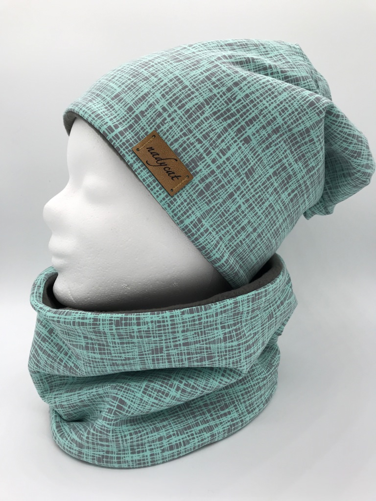 - MINT STRIPES Beanie mit passendem Loop
