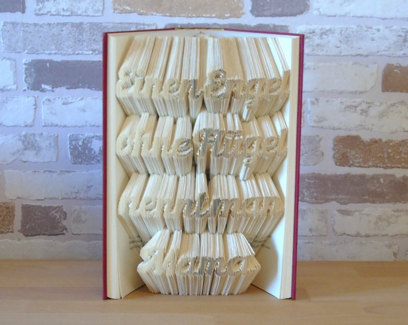 Kleinesbild - gefaltetes Buch - Einen Engel ohne Flügel nennt man Mama
