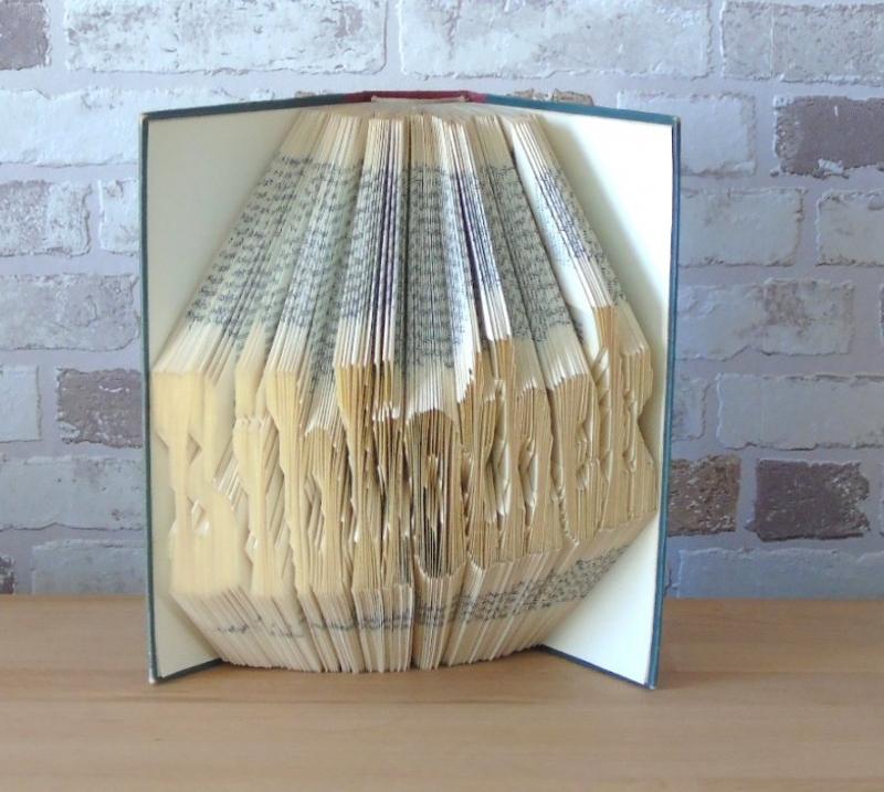 Kleinesbild - gefaltetes Buch - Bibliothek//  Dekoration // Geschenk // Bookfolding // Leseratten // Buchliebhaber