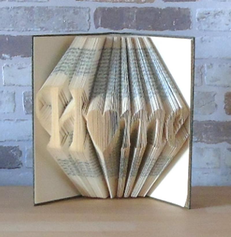 Kleinesbild - gefaltetes Buch - Home // Buchkunst // Bookfolding // Book Art // Geschenk // Einweihungsgeschenk // Dekoration // Freundschaft