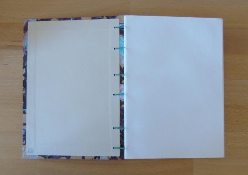 Kleinesbild - Tagebuch A5 - Marmor türkis-gold // Blankobuch // Notizbuch // Geschenk