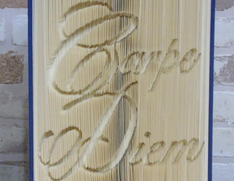 Kleinesbild - gefaltetes Buch - Carpe Diem // Buchkunst // Bookfolding // Dekoration // Geschenk // Aufmunterung // Freundschaft