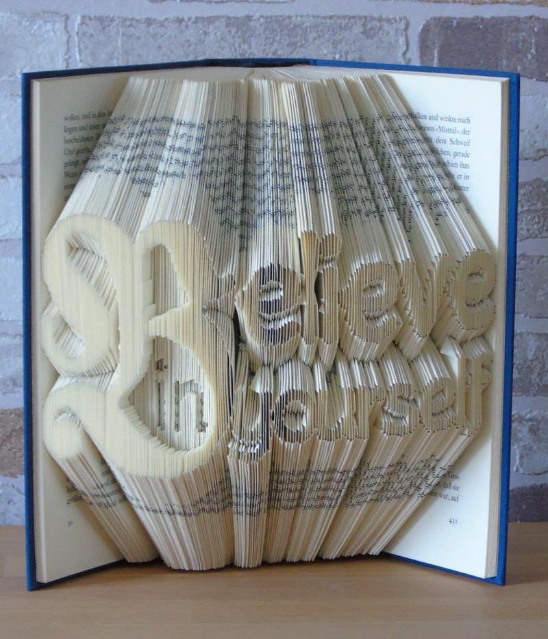 Kleinesbild - gefaltetes Buch - Believe in yourself // Buchkunst // Dekoration // Geschenk // Glaub an dich // Freundschaft // Aufmuterung