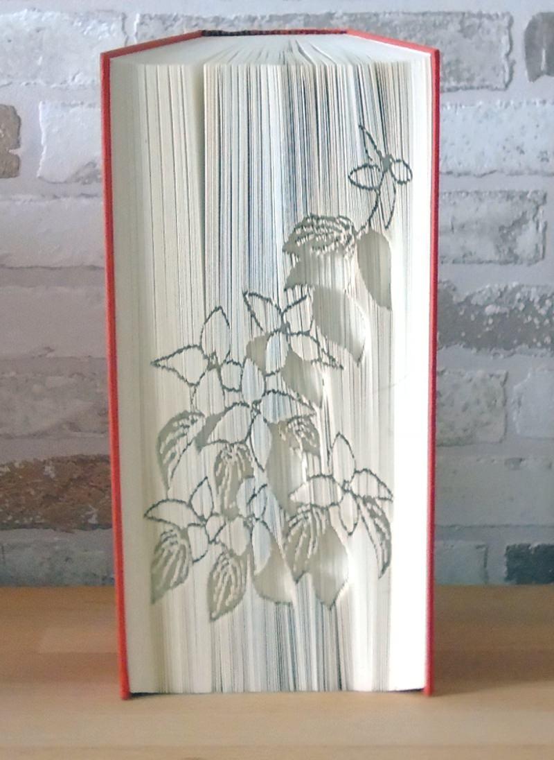 Kleinesbild - gefaltetes Buch - Blumen // Buchkunst // Bookfolding // Geschenk // Dekoration // statt Blumen // Freundschaft
