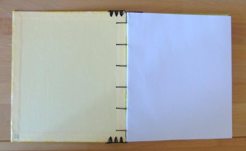 Kleinesbild - Gästebuch - Blätter // Geschenk // Erinnerung // Hochzeit // Geburtstag // Feier // hellgrün // gelb // Blankobuch