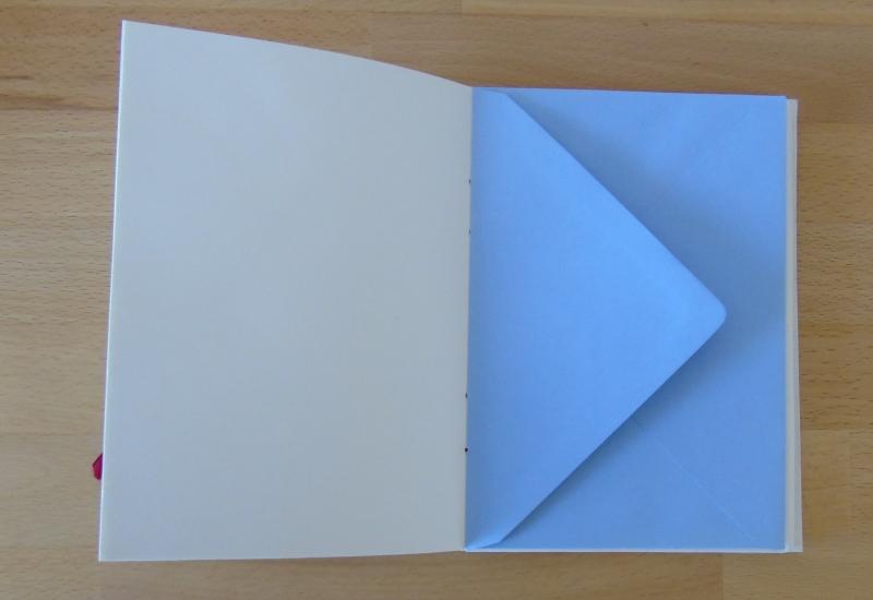 Kleinesbild - Tagebuch Kreuzband // rot // weiß // Geschenk // Muttertag // Notizbuch // koptische Bindung