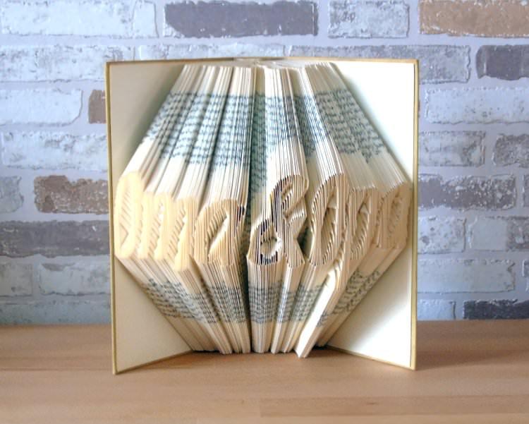 - gefaltetes Buch - Oma & Opa // Buchkunst // Bookfolding // Geschenk // Dekoration - gefaltetes Buch - Oma & Opa // Buchkunst // Bookfolding // Geschenk // Dekoration