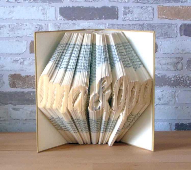 Kleinesbild - gefaltetes Buch - Oma & Opa // Buchkunst // Bookfolding // Geschenk // Dekoration