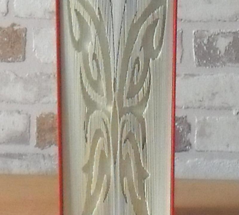 Kleinesbild - gefaltetes Buch - Schmetterling Silhouette // Bookfolding // Buchkunst // Dekoration // Book Art // Geschenk