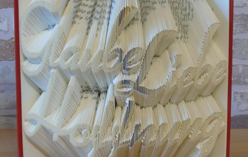 Kleinesbild - gefaltetes Buch - Glaube Liebe Hoffnung // Buchkunst // Bookfolding // Geschenk // Dekoration