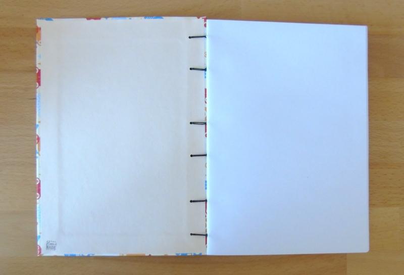 Kleinesbild - Notizbuch A5 Roboter // Tagebuch // Geschenk // Blankobuch // Skizzenbuch