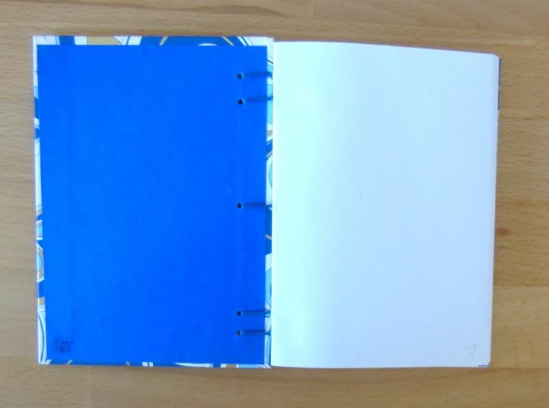Kleinesbild - Notizbuch A6 Ornamente blau gold // Blankobuch // Tagebuch // Geschenk // Geburtstag