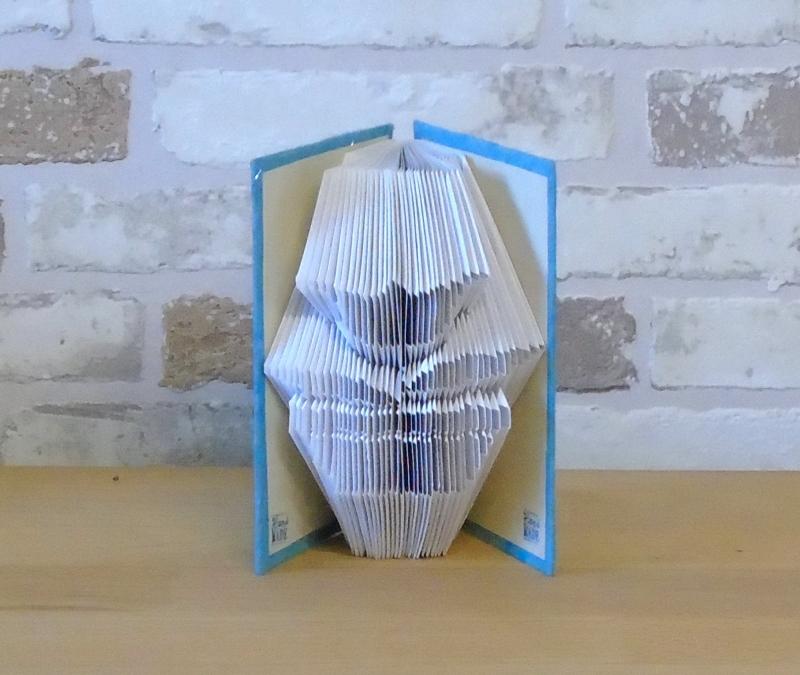 - gefaltetes Buch - Blume in Topf in einem handgebundenen Notizbuch A7 // Buchbinden // koptische Bindung // Buchkunst // Bookkfolding - gefaltetes Buch - Blume in Topf in einem handgebundenen Notizbuch A7 // Buchbinden // koptische Bindung // Buchkunst // Bookkfolding