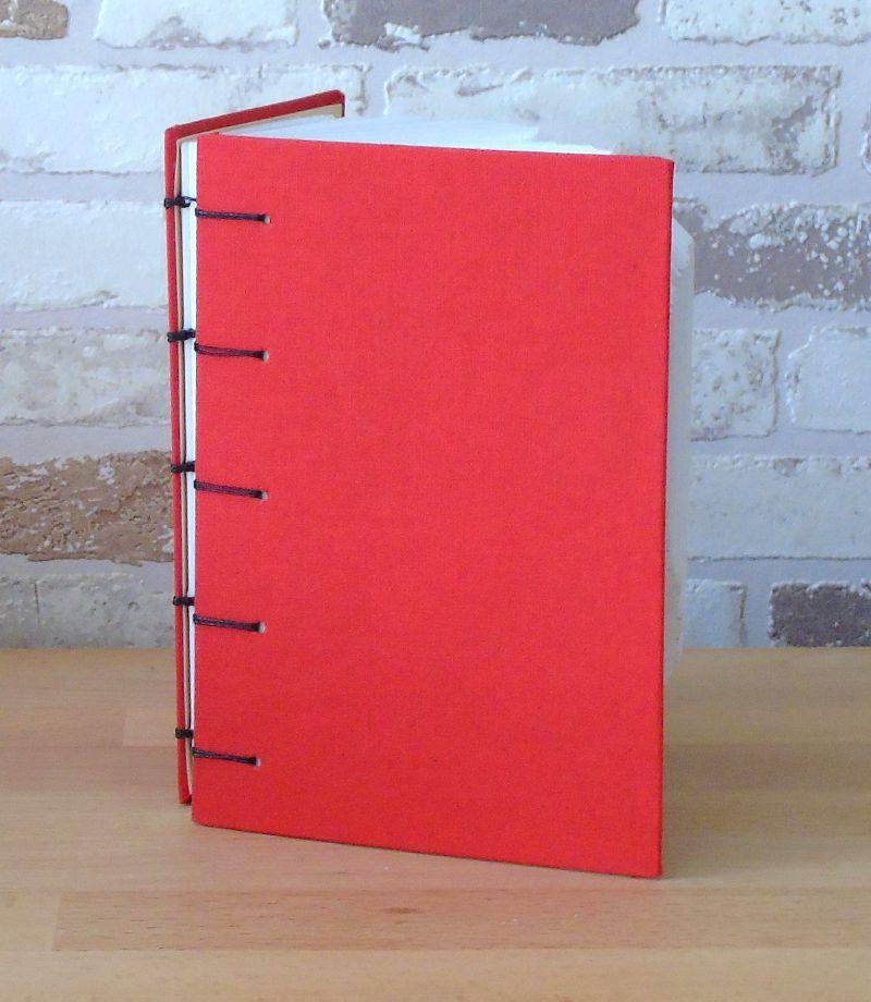 Kleinesbild - gefaltetes Buch - Herz in Herz in einem handgebundenen Notizbuch // Buchkunst // Dekoration // Geschenk // Muttertag // Geburtstag