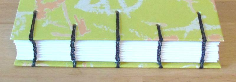 Kleinesbild - Notizbuch A6 - hellgrün rosa weiß // Tagebuch // Diary // Skizzenbuch // blanko // Geschenk // Erinnerungen