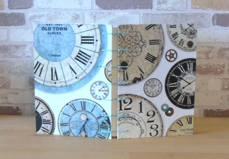 Kleinesbild - Notizbuch A5 - Zeit - Uhren // Tagebuch // Skizzenbuch // blanko // Geschenk // Erinnerungen // Diary