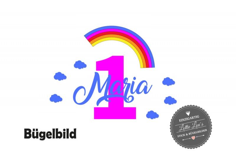 - Bügelbild Geburtstag Birthday Regenboge Rainbow Zahl Name  in Glitzer, Flock, Effekt  - Bügelbild Geburtstag Birthday Regenboge Rainbow Zahl Name  in Glitzer, Flock, Effekt