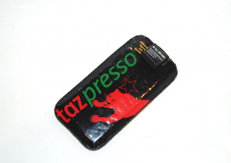 - upcycling Handysleeve XL Tazpresso  - upcycling Handysleeve XL Tazpresso