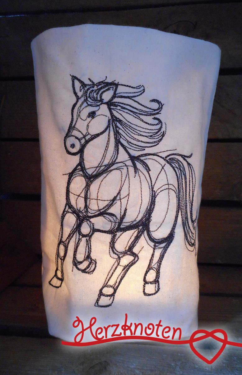 - Lichtbeutel, bestickt mit Pferd, tolles Licht, Lichterbeutel, gemütlich ! - Lichtbeutel, bestickt mit Pferd, tolles Licht, Lichterbeutel, gemütlich !