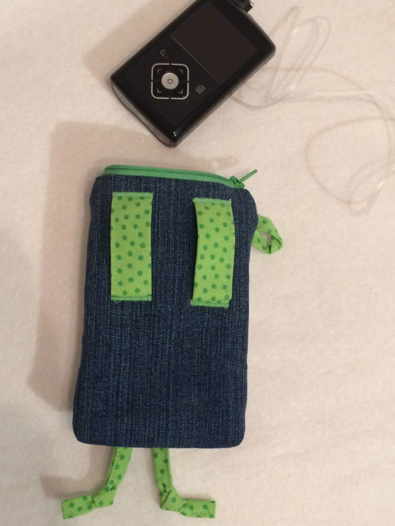Kleinesbild - Pumpentasche, witzige Gürteltasche für die Insulinpumpe oder den Dexcom Receiver