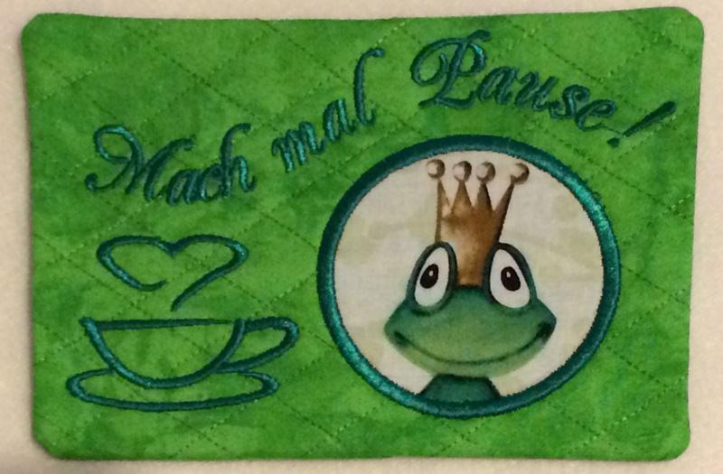 - Mug Rug - Mach mal Pause - Froschkönig - kiss me frog - Mug Rug - Mach mal Pause - Froschkönig - kiss me frog