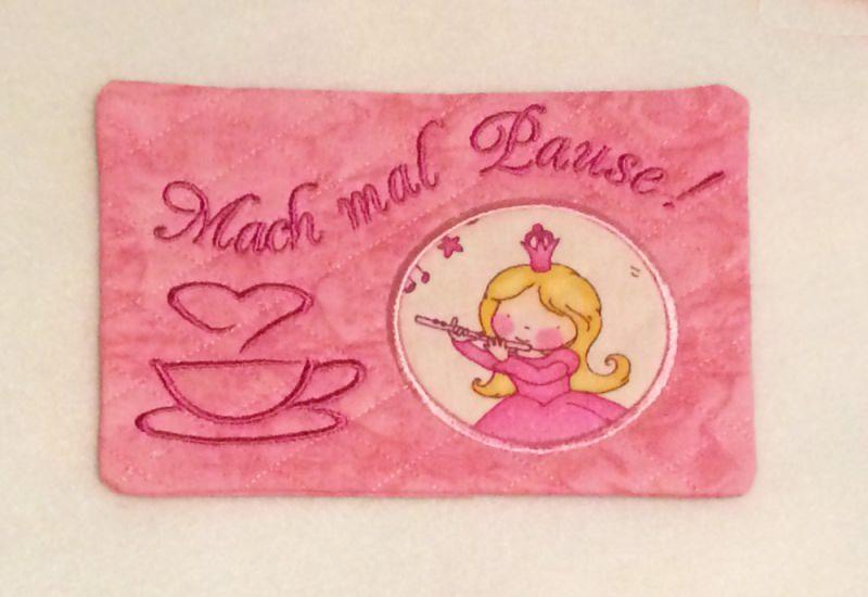 - Mug Rug - Mach mal Pause - Untersetzer Prinzessin - Mug Rug - Mach mal Pause - Untersetzer Prinzessin