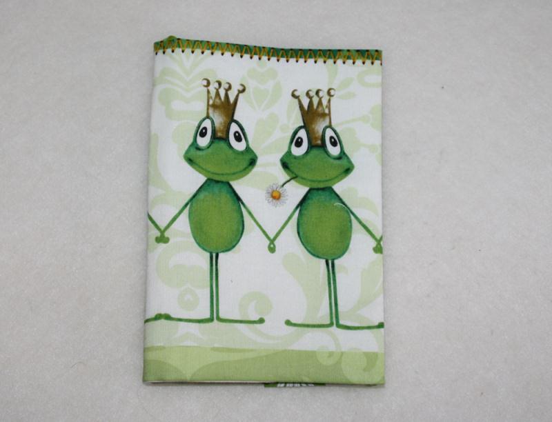 -  Buchhülle - Taschenbuchhülle - Froschkönig - kiss me frog -  Buchhülle - Taschenbuchhülle - Froschkönig - kiss me frog