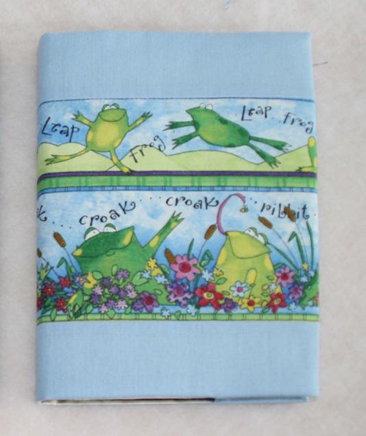 - Notizbuch mit Buchhülle A5 -  Froschkonzert - Notizbuch mit Buchhülle A5 -  Froschkonzert