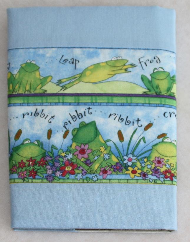Kleinesbild - Notizbuch mit Buchhülle A5 -  Froschkonzert