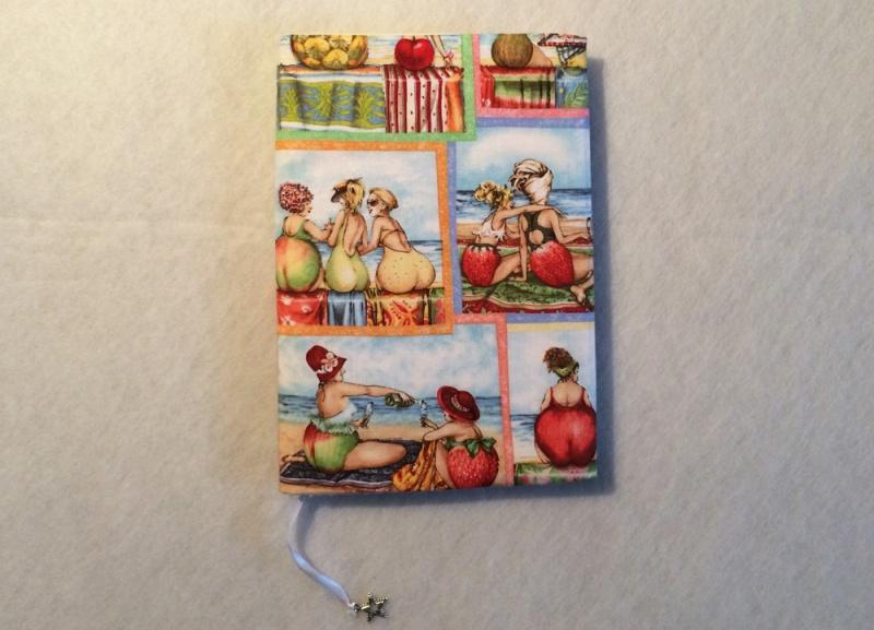 - Notizbuch mit Buchhülle A5 - Fruit Ladies am Strand - Notizbuch mit Buchhülle A5 - Fruit Ladies am Strand