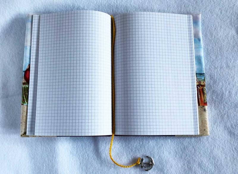 Kleinesbild - Notizbuch mit Buchhülle A5 - Fruit Ladies am Strand