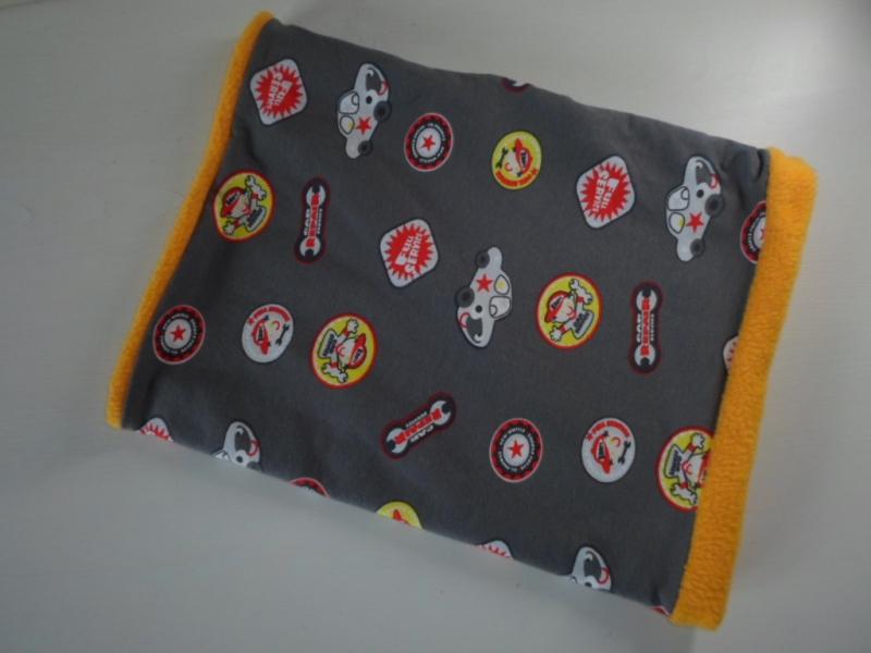 Kleinesbild - Kinder-Loop Schal Schlauchschal *Ragazzo* bunt/ Fleece Gelb von friess-design