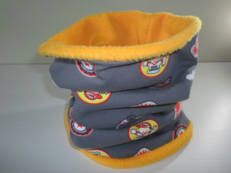 - Kinder-Loop Schal Schlauchschal *Ragazzo* bunt/ Fleece Gelb von friess-design  - Kinder-Loop Schal Schlauchschal *Ragazzo* bunt/ Fleece Gelb von friess-design