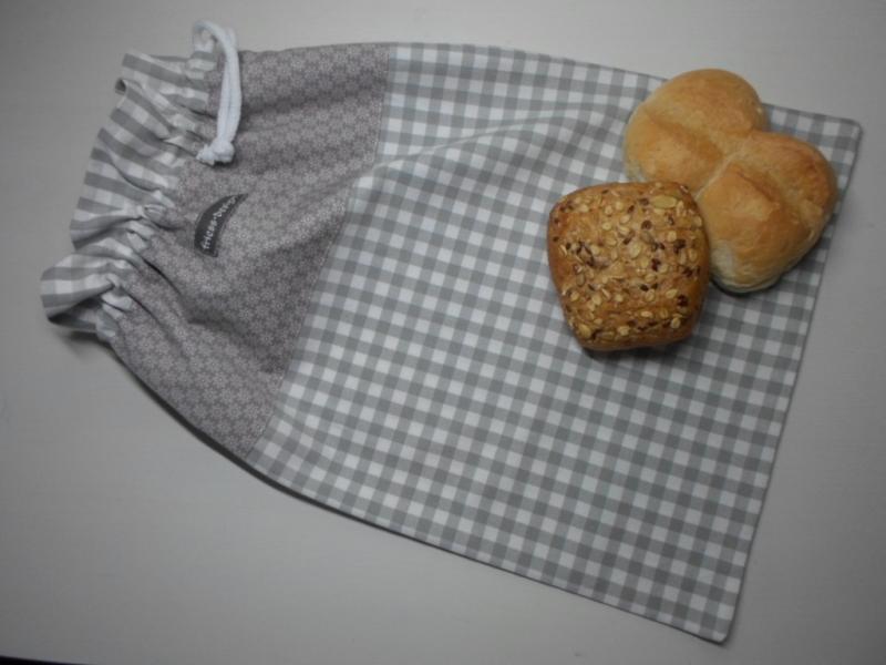 Kleinesbild - Brotbeutel *speciale* Baumwolle grau-kariert/ sottile von friess-design