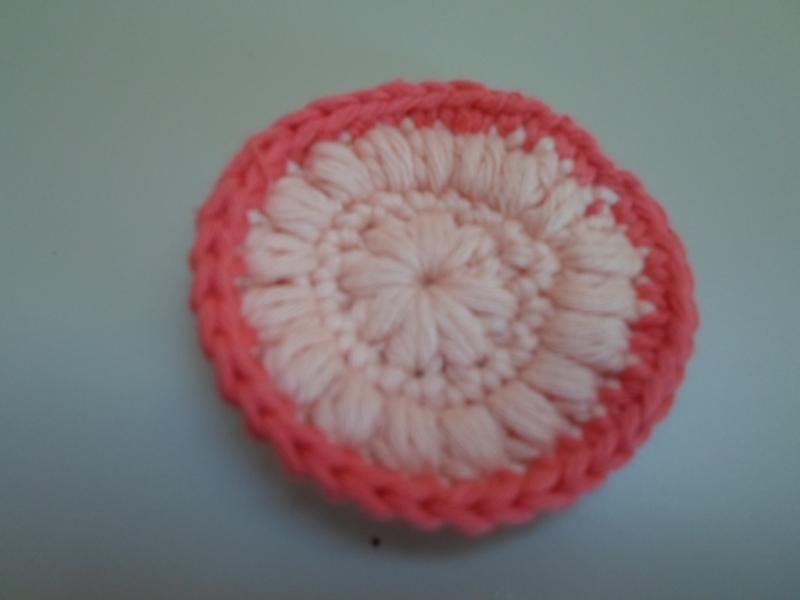Kleinesbild - SET: gestrickter Waschlappen und Kosmetikpad aus Baumwolle *apricot/ pink* von friess-design