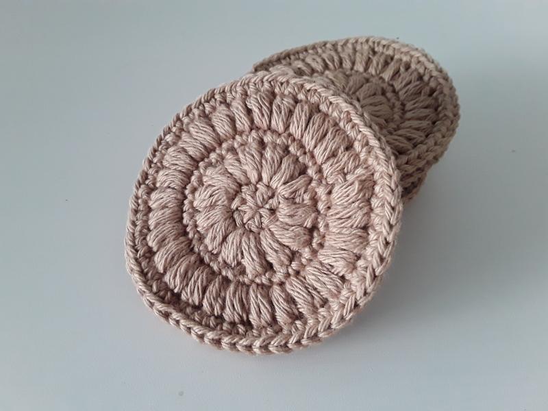 Kleinesbild - Kosmetikpads/ Abschminkpad Baumwolle *beige* 5 Stück von friess-design