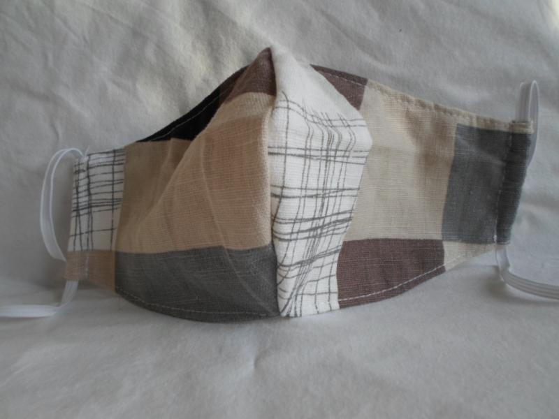 Kleinesbild - Mundmaske Nasenmaske Behelfsmaske aus Baumwolle/ Leinen für den Herren von friess-design