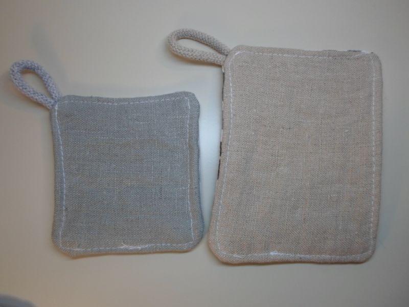 Kleinesbild - Spültücher/ Spülschwamm/ Spülpad Leinen/ Baumwolle 3 Stück