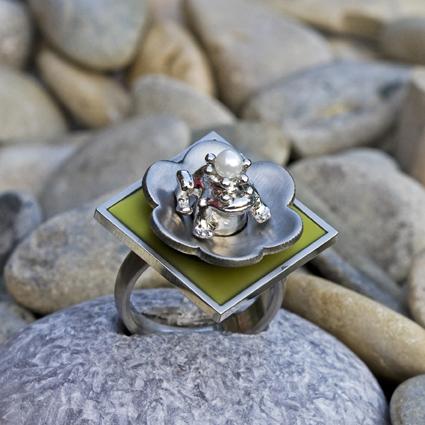 - Ring Froschkönig - Edelstahl-Ringschiene individulisierbar - Ring Froschkönig - Edelstahl-Ringschiene individulisierbar