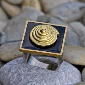 - Ring - Emaille und Edelstahl - Ring - Emaille und Edelstahl