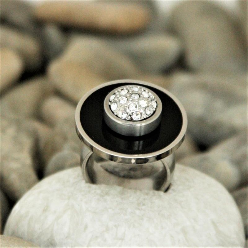 - Ring - sehr stylischer Ring aus Edelstahl - individualisierbar - Ring - sehr stylischer Ring aus Edelstahl - individualisierbar