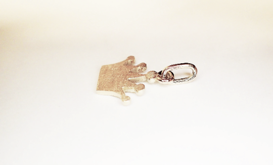 Kleinesbild - anhänger krone krönchen 925 Silber reine Handarbeit