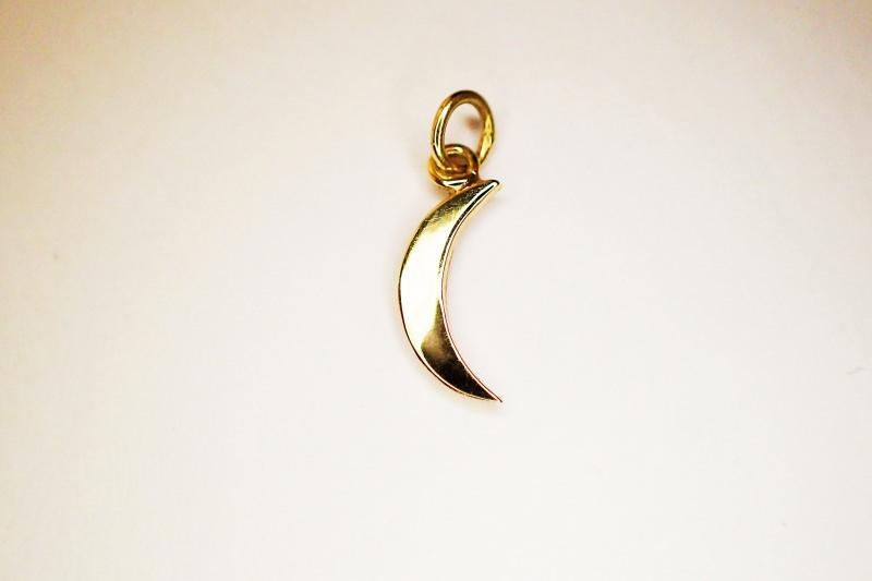 Kleinesbild - anhänger kleiner Mond in 585 GOLD in Handarbeit gefertigt